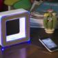 创意电子礼品定制厂家触控蓝牙音响LED回形灯